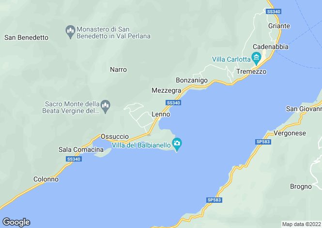 Map for Italy - Lombardy, Como, Lenno
