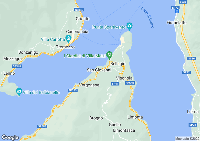Map for Bellagio, 22021, Italy