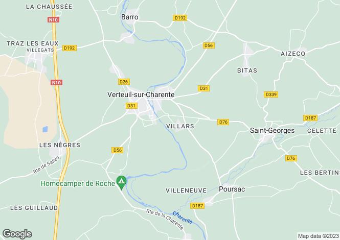Map for Verteuil Sur Charente, Poitou-Charentes, 16510, France