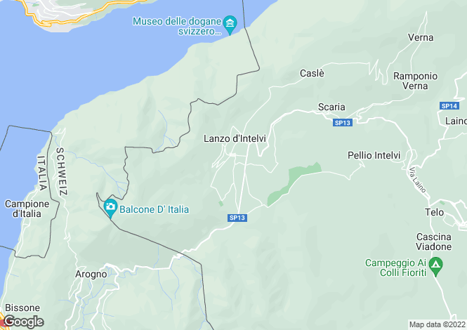 Map for Lanzo D'intelvi, Como, Lombardy