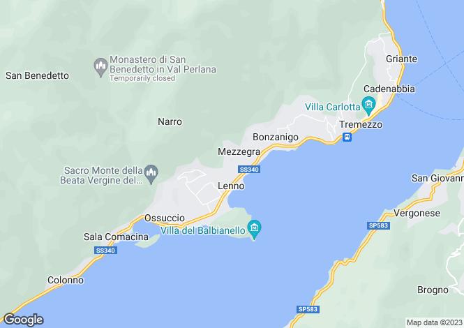 Map for Mezzegra, 22010, Italy