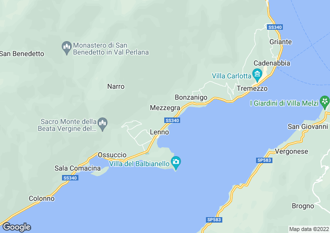 Map for Mezzegra, 22016, Italy