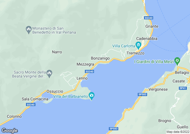 Map for Liberty Villa, Mezzegra, Lake Como, Lombardy