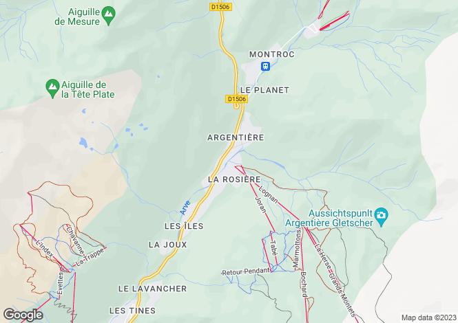 Map for Rhone Alps, Haute-Savoie, Chamonix