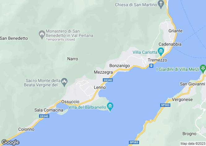 Map for Villa Anastasia, Mezzegra, Lake Como, Italy