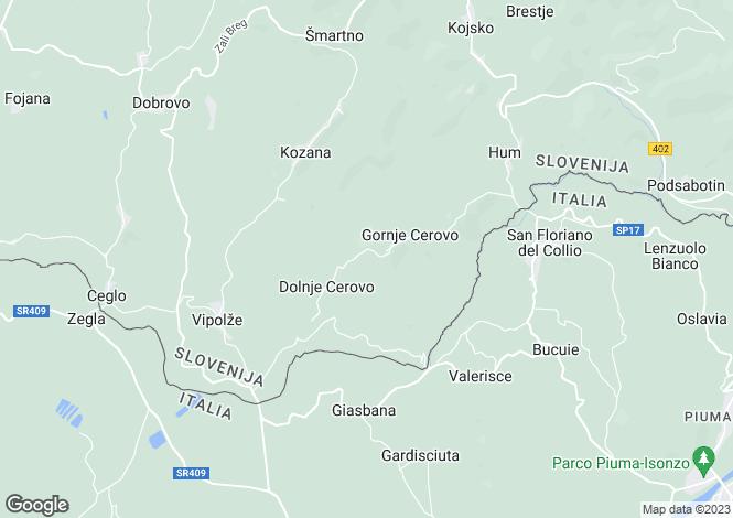 Map for Cormons, Gorizia, Friuli-Venezia Giulia