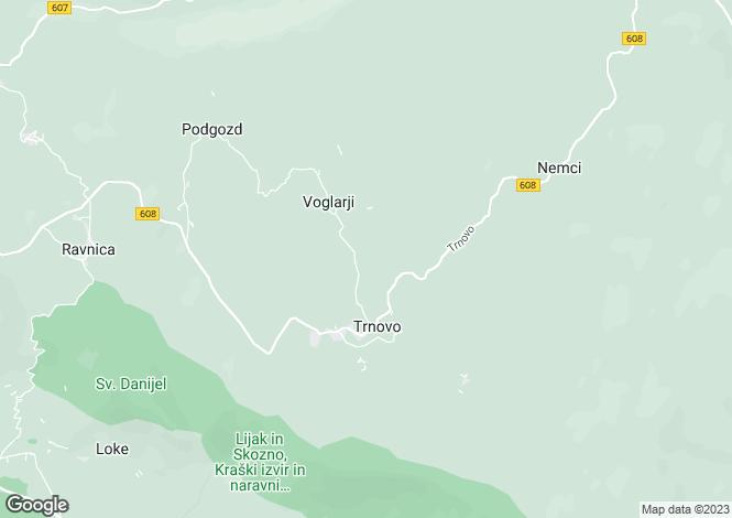 Map for Grgar, Nova Gorica