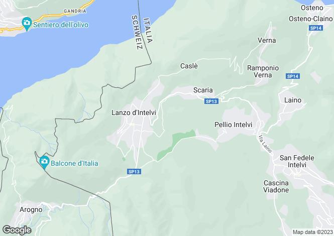 Map for Lombardy, Como, Lanzo D'intelvi