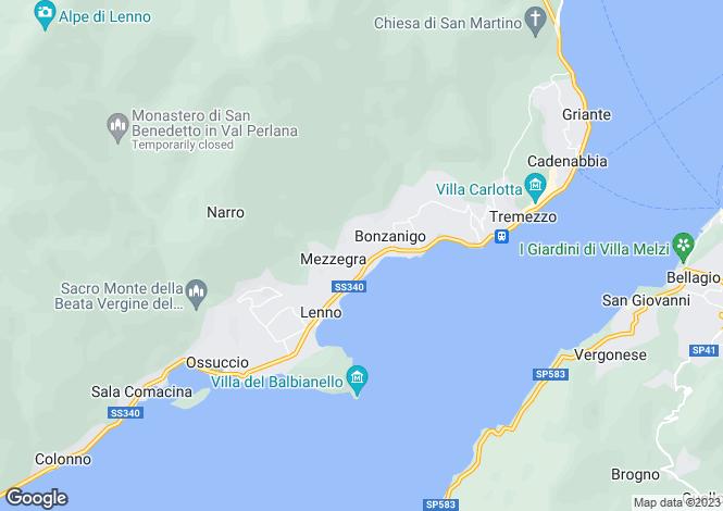 Map for Tremezzo, Como, Lombardy