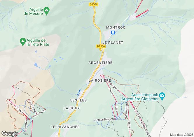Map for Rhone Alps, Haute-Savoie, Argentière