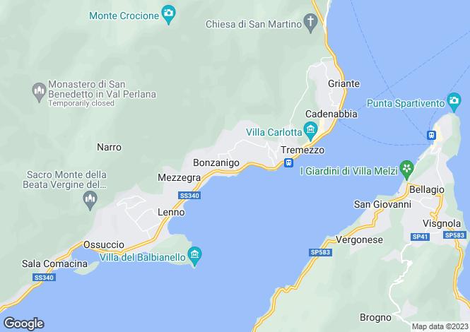 Map for Griante - Cadenabbia, 22019, Italy