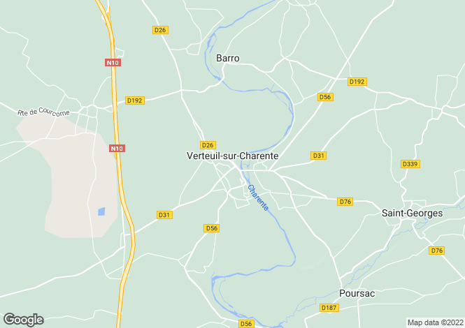 Map for Secteur: Verteuil, Charente