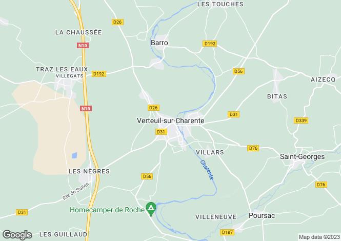 Map for Secteur: Verteuil-sur-Charente, Charente