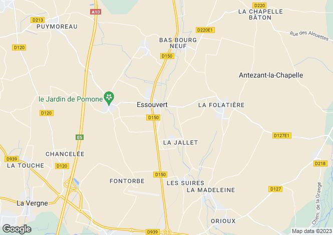 Map for St-Denis-du-Pin, Charente-Maritime, Poitou-Charentes
