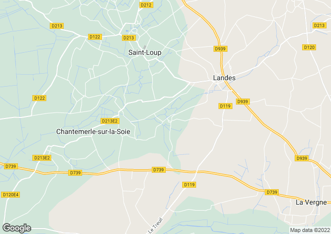 Map for St-Loup, Charente-Maritime, Poitou-Charentes