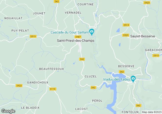 Map for st-priest-des-champs, Puy-de-Dôme, France