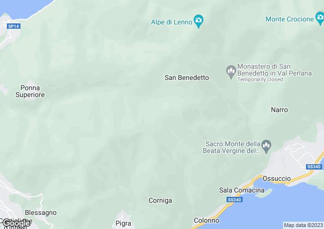Map for Ossuccio, Como, Lombardy