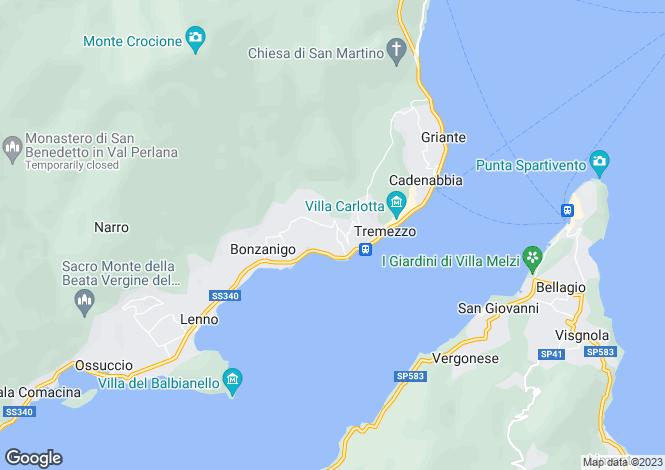 Map for Tremezzo, 22019, Italy
