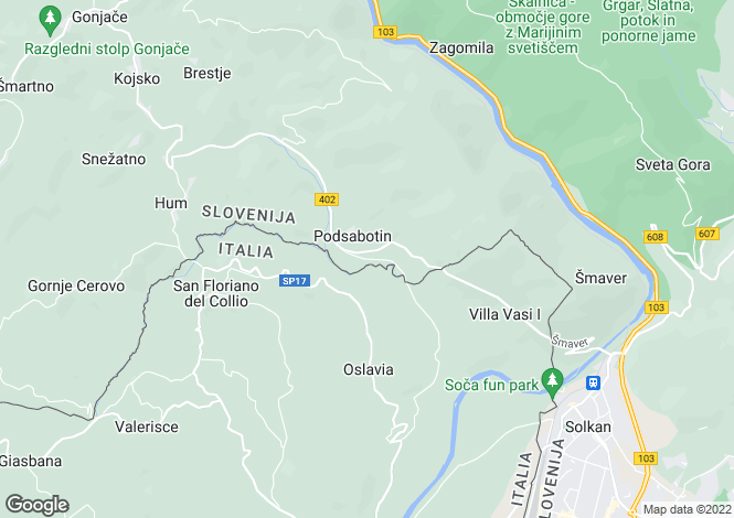 Map for Nova GorIca, Nova GorIca, Slovenia