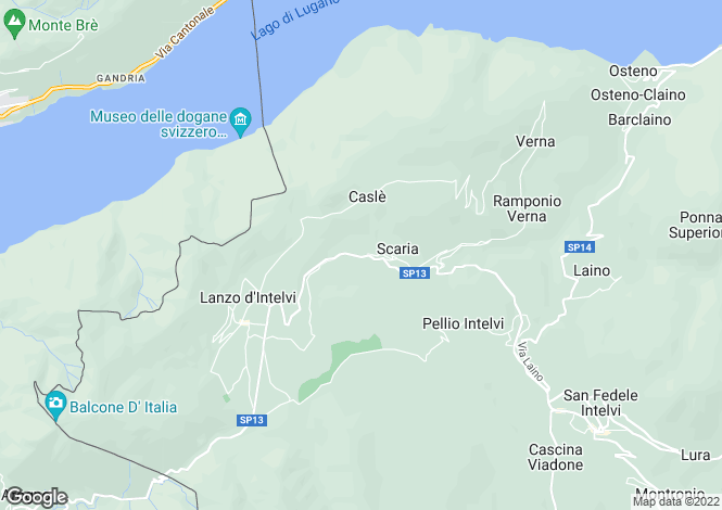 Map for Lanzo D Intelvi, 22024, Italy