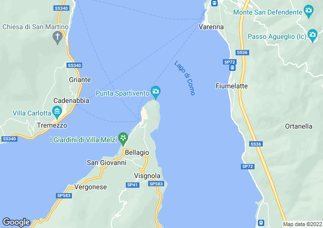 Map for Bellagio, Como, Lombardy