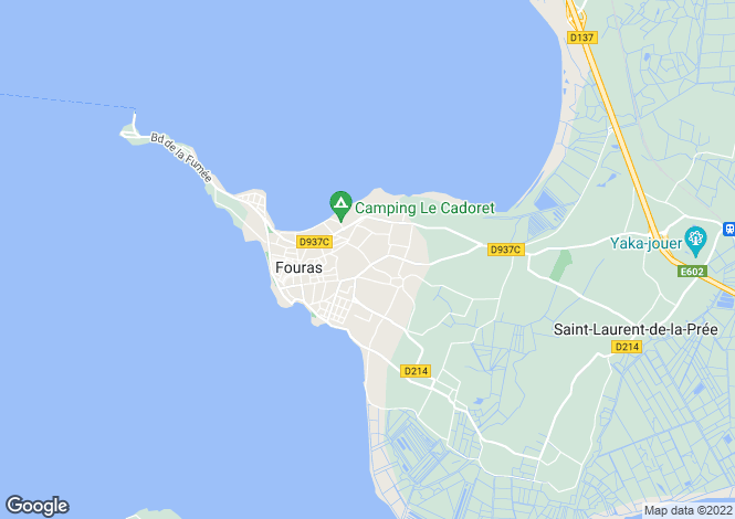 Map for fouras, Charente-Maritime, France