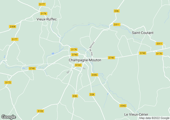 Map for Secteur: Champagne Mouton, Charente
