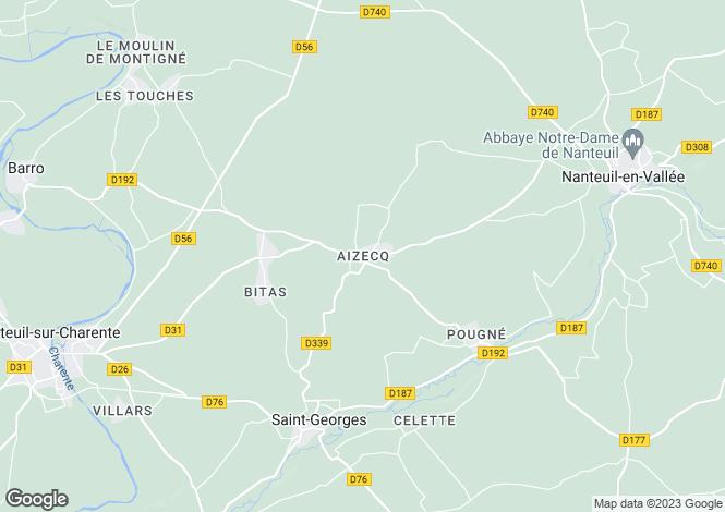 Map for Aizecq, Poitou-Charentes, 16700, France