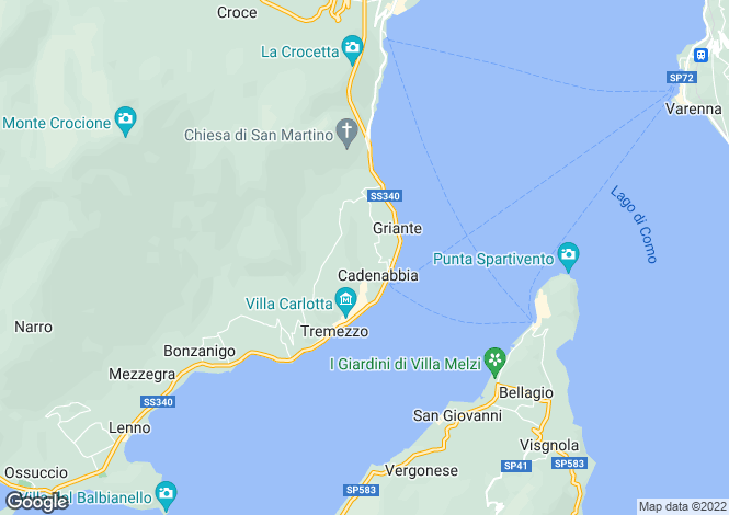 Map for Griante, Italy