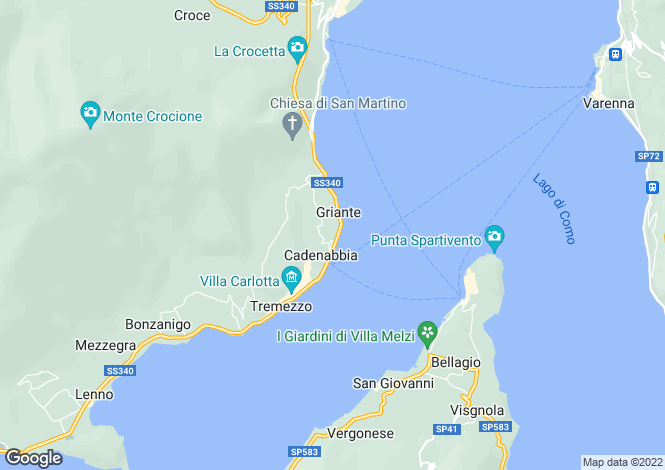 Map for Tremezzo, 22019, Italy