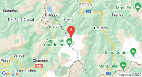 map of Aiguille du Tour (France)