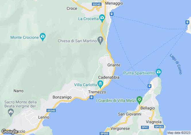 Map for Griante - Cadenabbia, Italy