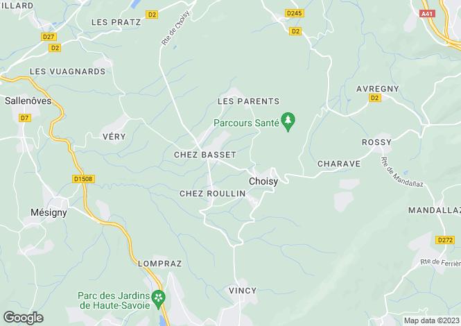 Map for Rhone Alps, Haute-Savoie, Choisy