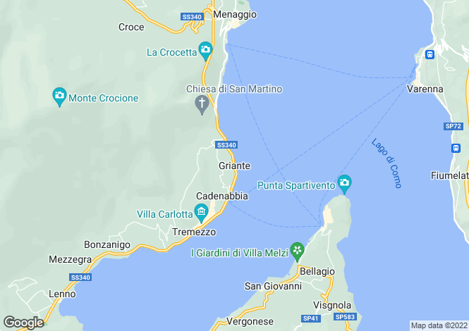 Map for Lombardy, Como, Griante