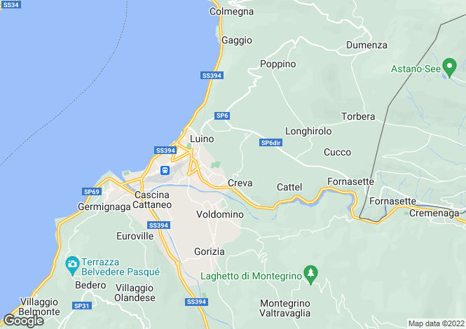 Map for Lombardy, Varese, Luino