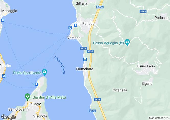 Map for Varenna (Fiumelatte), 23829, Italy
