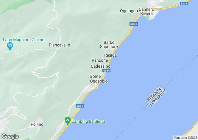 Map for Piedmont, Verbano-Cusio-Ossola, Oggebbio