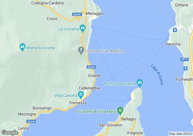 Map for Griante, Como, Italy
