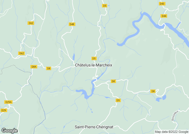 Map for Chatelus Le Marcheix, Creuse