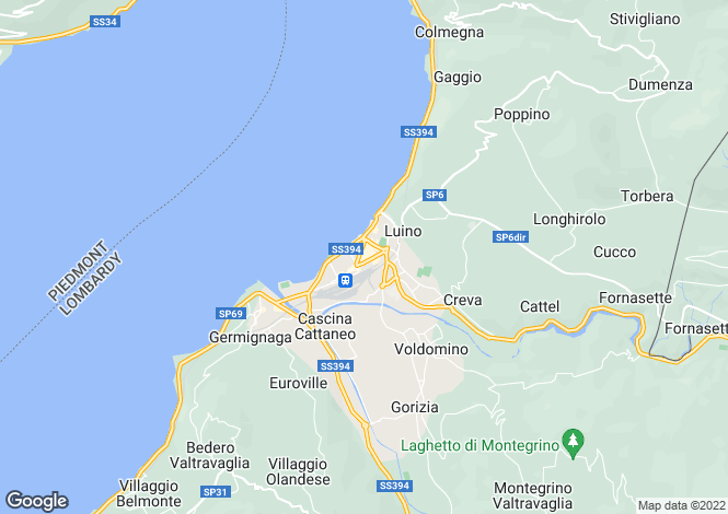 Map for Luino, Varese, Lombardy