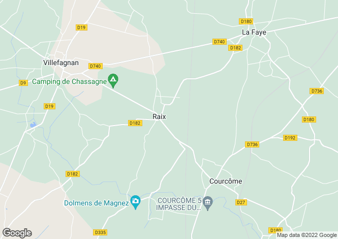 Map for raix, Charente, France