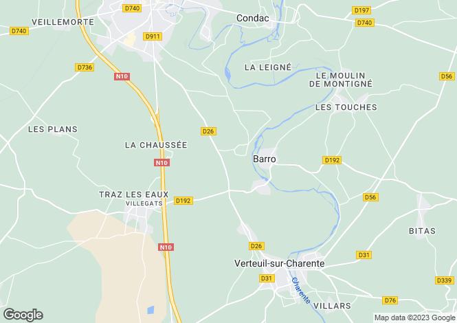 Map for Barro, Charente, 16700, France
