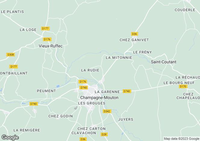 Map for MOUTON, Poitou-Charentes, 16350, France