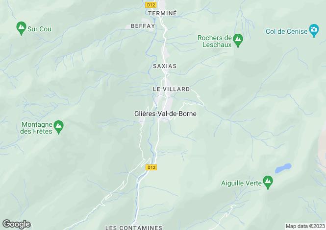 Map for Le Petit-Bornand-les-Glières, 74130, France