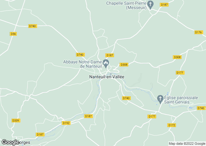 Map for Secteur: Nanteuil en Vallee, Charente