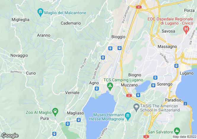 Map for Ticino, Agno