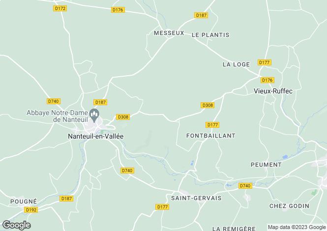Map for Nanteuil En Vallee, Poitou-Charentes, 16700, France
