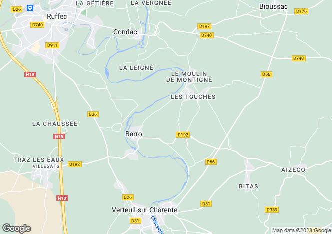 Map for Verteuil Sur Charente, Poitou-Charentes, 16700, France