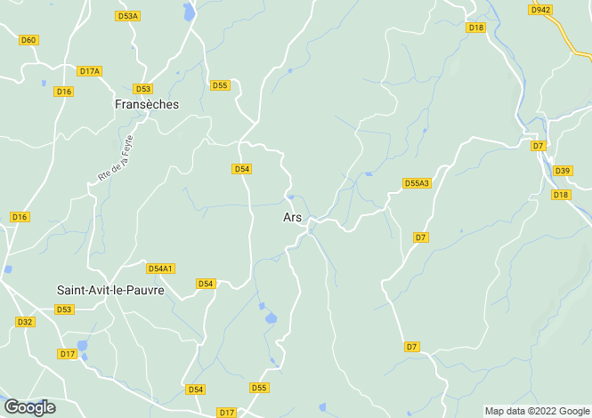 Map for Ars, Creuse, Limousin