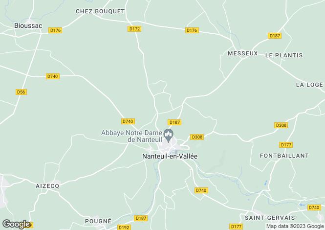 Map for Nanteuil-en-Vallee, Poitou-Charentes, 16700, France